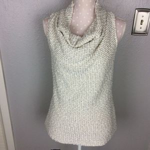 Drew Cowl Neck Open Back Sleeveless Sweater Sz M